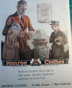 1921-Vintage-ad-Monroe-Clothes-Fifth-Ave-NY-10-x-14-Great-ad