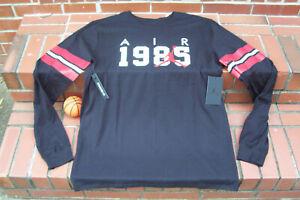 7a5f6733 NEW Nike Air Jordan 1985 Brand 6 Blk Red White Men's Long Sleeve T ...