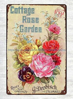 roses Cottage Rose Garden catalogue 1899 poster office bedrooms sign