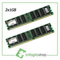 KIT RAM 2GB (2x1gb) KINGSTON RAM DDR1 KIT 2 3200U DDR 400Mhz 184pin DESKTOP
