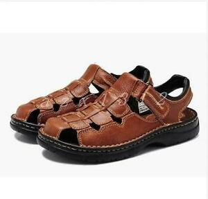 chic fashion mens shoes sandals leather fisherman loafers