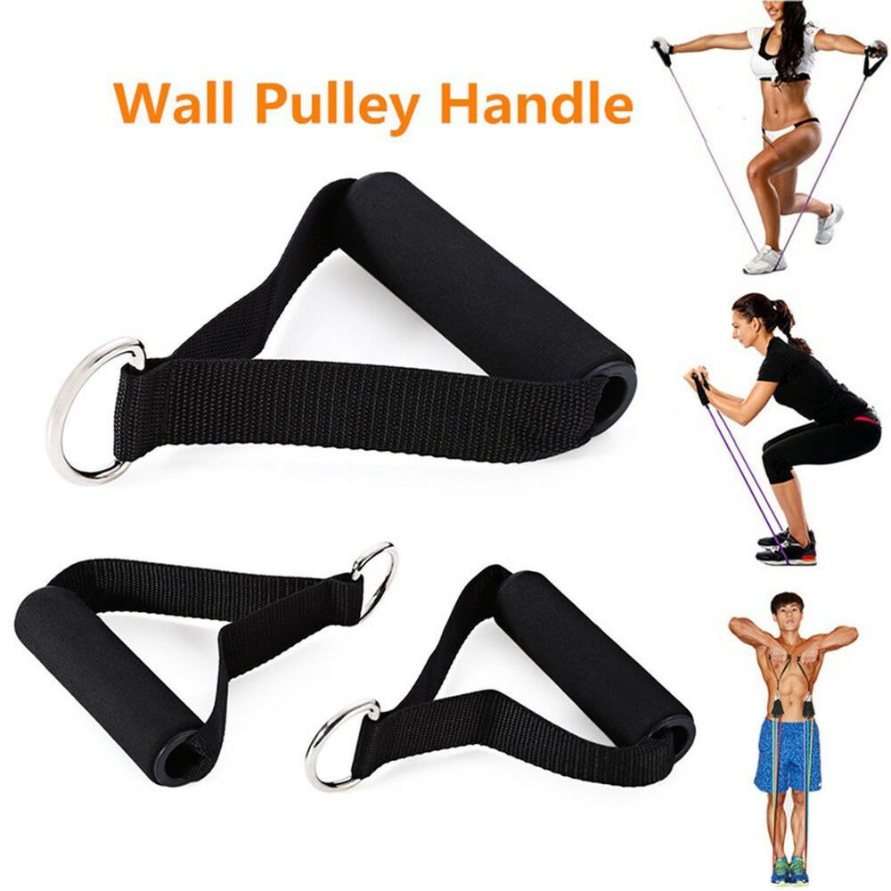 Yoga Pilates Pull Rope Bands Foam Handle Gym Puller Resistance Exercise Good New Fitness Equipment & Gear