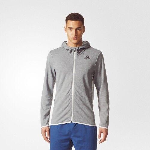lowest price 697b2 2358d adidas Workout FZ Climacool Mens Sweatshirt Grey 50 for sale online  eBay