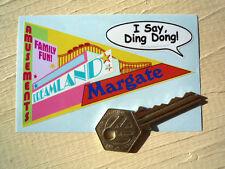 MARGATE DREAMLAND Travel Pennant Style Car Window Sticker Retro Holiday British