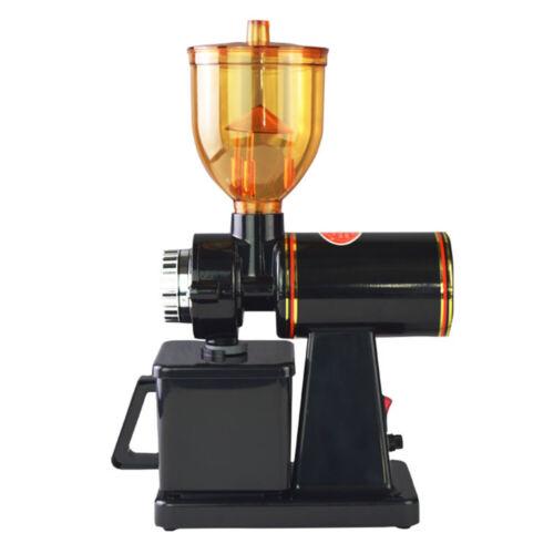 Kaffeemühle Elektrische Espressomühle Bohnen Kegelmahlwerk Edelstahl Schwarz//Rot