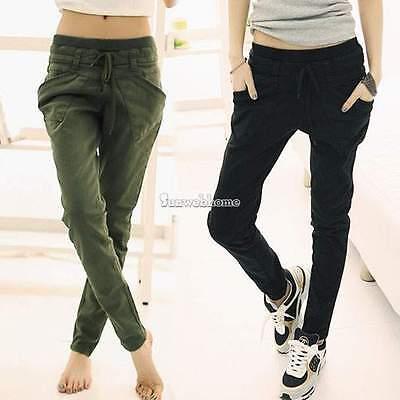 Women Harem Skinny Sport Cotton Blend Sweatpant Pants Leggings Slack Trousers