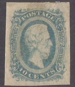 CONFEDERATE STATES OF AMERICA #11 sm stain but GREAT MARGINS, gum w ms etc Nice!