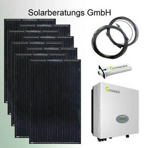 2600 Watt Solaranlage Growatt komplett Solaranlage Solarmodule Plug&Play