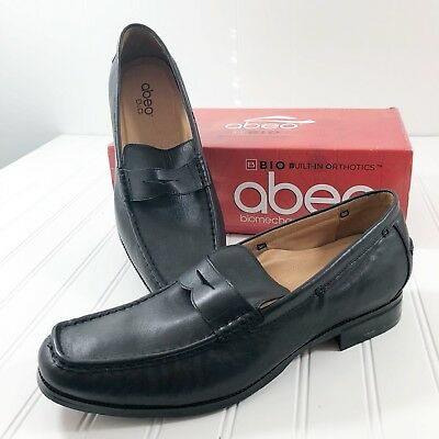 Abeo Mens size 14 Neutral Dress Shoes Penny Loafers Black Leather Marshal   eBay