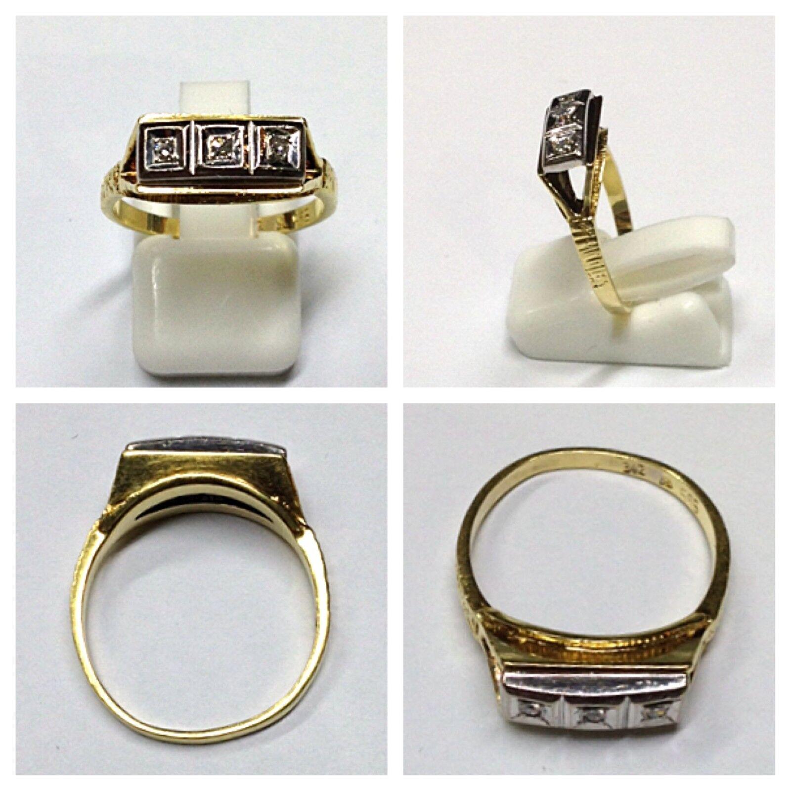 Brillantenring Ring 585er gold mit Brillanten goldring 0,09 Ct 54 (17,2 mm Ø)