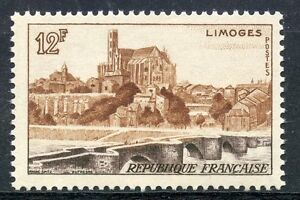 Neuf Charniere We Take Customers As Our Gods Vue De Limoges Stamp Timbre France Neuf N° 1019