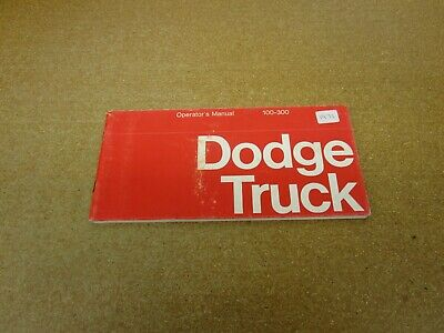 DODGE 1971 Truck Owner/'s Manual 71 Pick Up