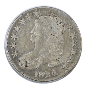 1824/4 Capped Bust Half Dollar Very Fine