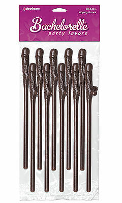 10 Pipedream Products Bachelorette Party Favors Dicky Sipping Straws