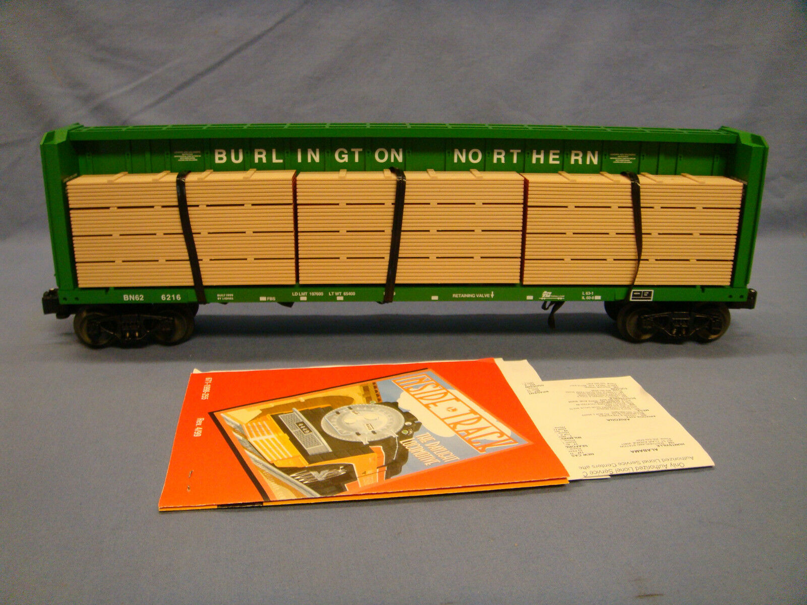 Lionel FC I – Beam Burlington Northern 6-17550 O Scale New In Box