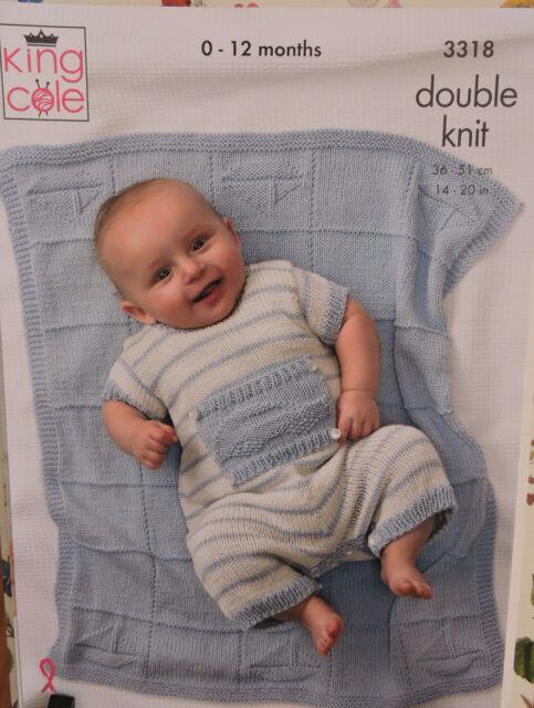 King Cole Cherish Double Knit DK Baby Knitting Pattern All In 1 Jacket Sock 4009