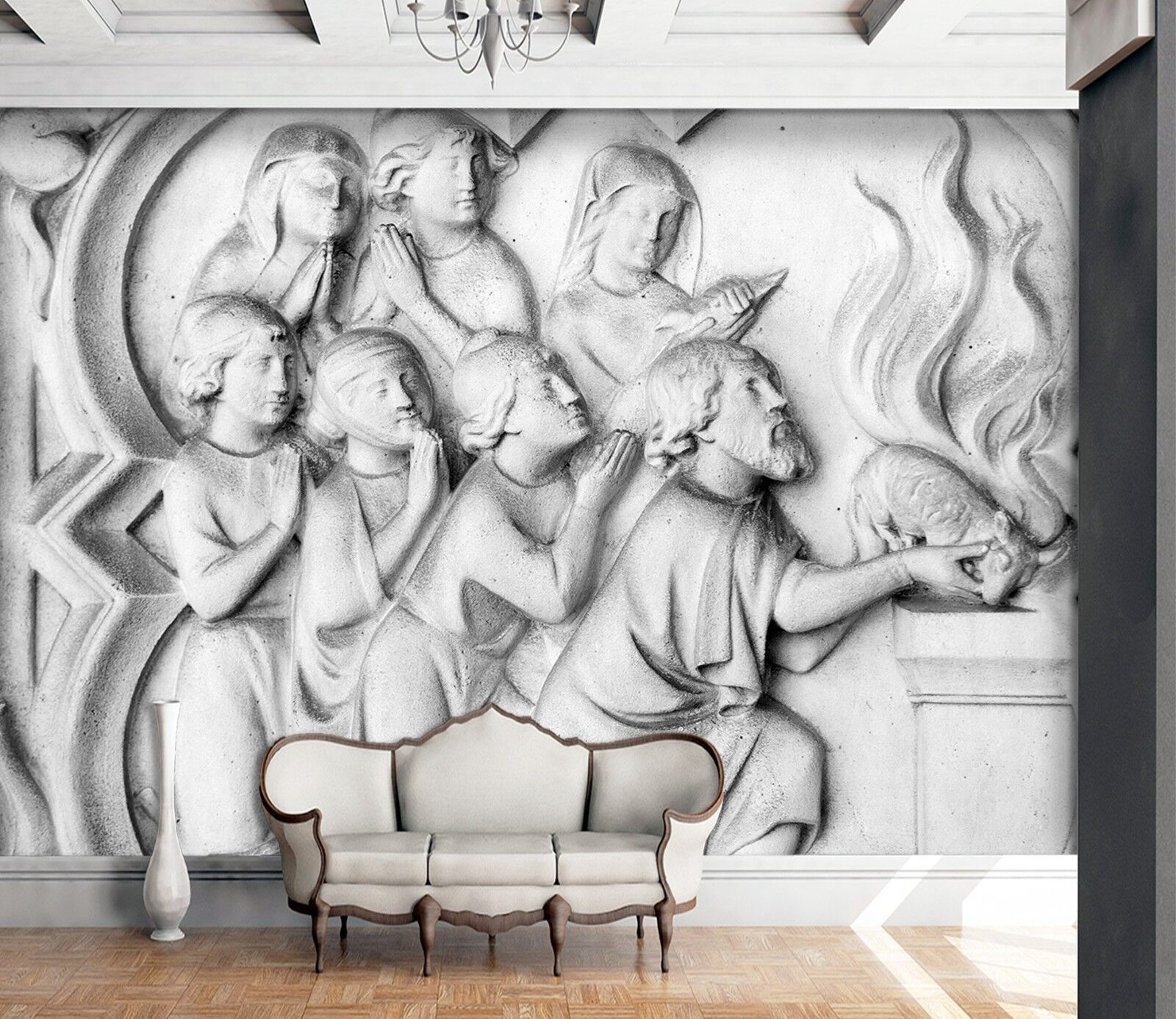 3D Devotion Christians 5 Wall Paper Wall Print Decal Wall Deco Indoor Murals