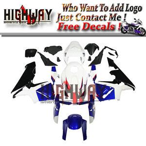 Injection-Fairings-For-Honda-CBR600RR-F5-05-06-2005-ABS-Kit-Bodywork-White-Blue