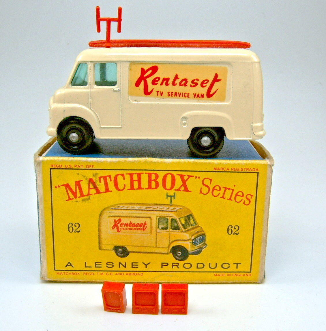 Matchbox  Rw 62b TV Service Van later  renatset  version Top in  D  box  font des activités d'escompte