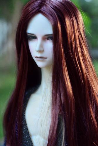 """8-9/"""" 1//3 BJD Red Brown Long Wig LUTS Doll SD DZ DOD MSD Soom Hair HUAL"""