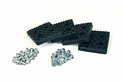 Benwil & Bishamon Rubber Lifting Arm Pads (Set of 4) With Metal Plate insert!!