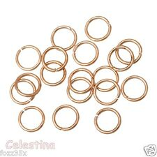 100 x 8mm Rose Gold Jump Rings - Open Linking - Hoops - Iron JR31