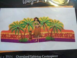 Hula Girl Luau Oversized Centerpiece Decorations Tropical Ocean Ebay