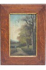 Landschaft mit Bäumen und Frau, Ölgemälde - Impressionist, Frankreich, um 1900