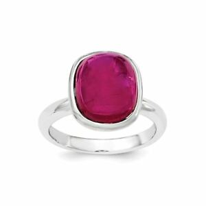 .925 Argent Sterling Poli Synthétique Rouge Bead Ring-afficher Le Titre D'origine Yxbtnzp5-08001634-996335985
