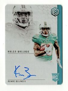 KALEN BALLAGE NFL 2018 PANINI ELEMENTS AUTO RC METAL CARD (DOLPHINS,CHARGERS)