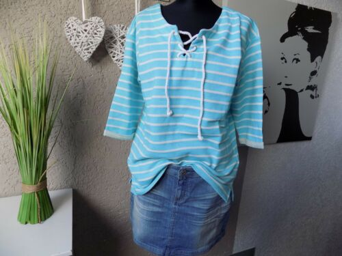 44 XL Swetshirt Cheer NUOVO Maglione 39b Maritimes 3//4 braccio shirt turchese bianco tg