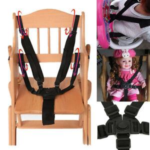 5 Point Infant Baby Safe Adjustable Belt Stroller Chair Pram Buggy