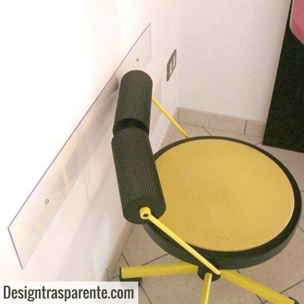 N°5 Paracolpi trasparenti 99x10. 3mm proteggi muro per ufficio+coprivite OFFERTA
