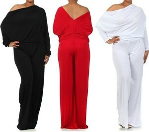 PLUS-BLACK-RED-MULTI-WAY-REVERSIBLE-PLUNGING-CONVERTIBLE-OFF-SHOULDER-JUMPSUIT