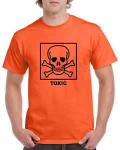 XL TOXIC Chemical Symbol Funny Heavy Cotton t-shirt ALL SIZES SMALL