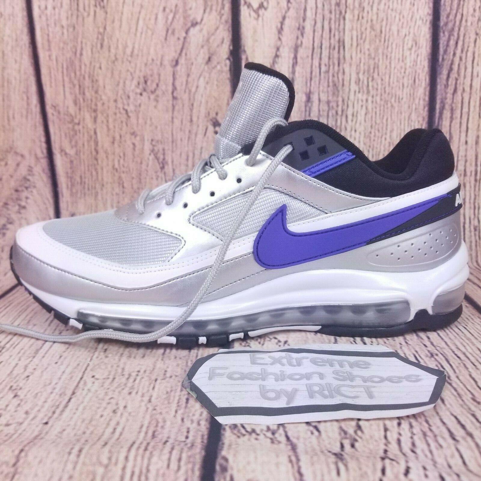 Mens Nike Air Max 97 BW argentoo metallico viola nero bianca Dimensione 11 AO2406 002