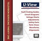 U-View Television Servicing 21: TV Service Information by J. Winters (DVD, 2012)