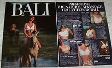 1978 ad - BALI Bra brassiere -sexy girl on horse- lingerie vintage 2-Page ADVERT