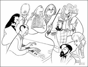 Al-Hirschfeld-039-s-HOROWITZ-amp-FRIENDS-Hand-Signed-Limited-Edition-Lithograph