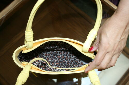 Yellow Leather Purse VERY HIGH QUALITY Wilson Leather