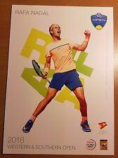 RAFA NADAL 5X7 2016 WESTERN & SOUTHERN ATP TENNIS TOURNAMENT COLLECTOR CARD