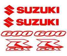 Suzuki GSXR 600 Decals RED Sticker  GSX-R Tail Fairing Body Vinyl