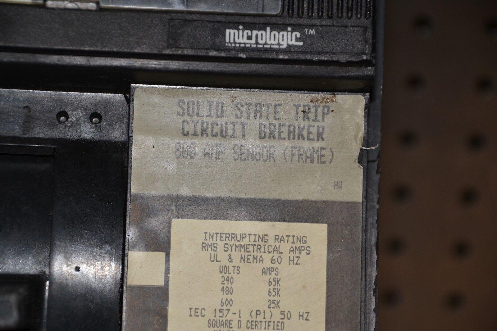 EDB34050SA NTO SQUARE D 50A AMP 3P POLE 480Y//277VAC EDB BREAKER W//SHUNT TRIP