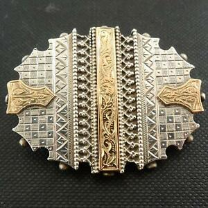 Vintage-Antique-Silver-Yellow-Gold-Sweetheart-Brooch-1890-1910s