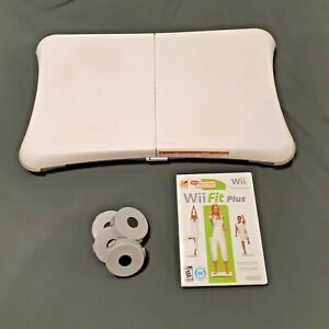 Nintendo Wii Balance Board Bundle With Wii Fit Plus - Cleaned & Tested