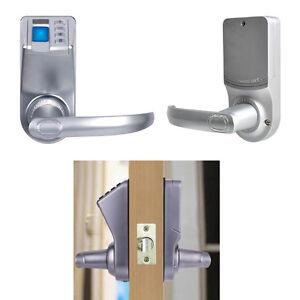 ADEL DIY Biometric Fingerprint Password Keyless Mechanical Key Door ...