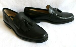 Nunn Bush Slip On Black Leather Loafers Comfort Gel