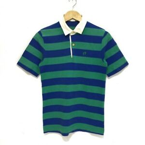 7507013f Vintage HANG TEN 80s Striped Yellow Tag Rugby Polo Tee Shirt Mambo ...