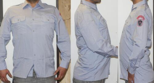 Original policía federal de austria uniforme camisa manga larga camisa gris 39 gloriette