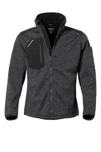Protectano Herren Fleece Jacke Winter gestrickt Softshell Zip Pullover Beruf